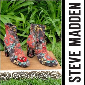 Rare & Gorgeous Steve Madden Floral Print Booties